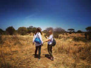 Vamos Bitchachos walking safari with sister, Tanzania.