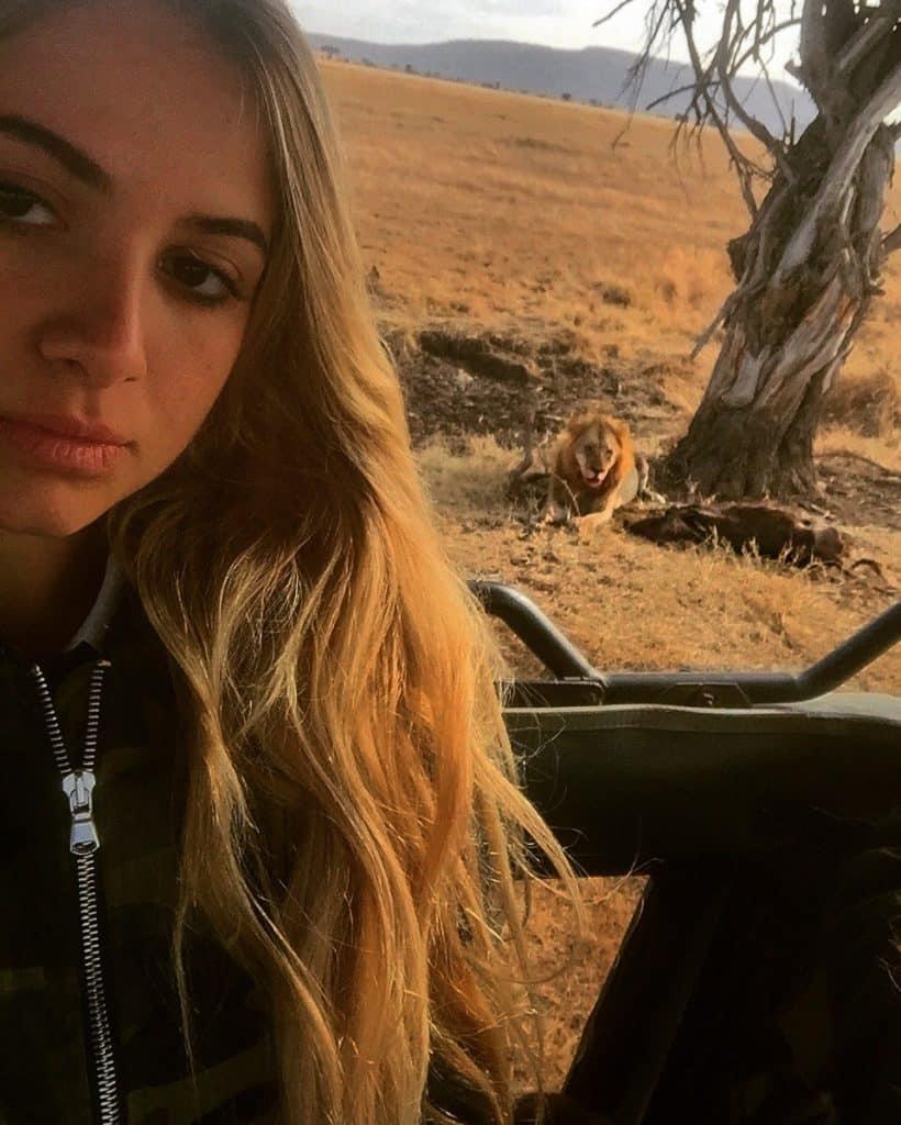 Vamos Bitchachos in Tanzania, Africa. Lion eating Pumba.