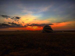 Vamos Bitchachos hot air balloon ride in Tanzania, Africa.