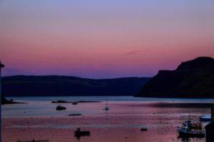 Isle of Skye purple sunset