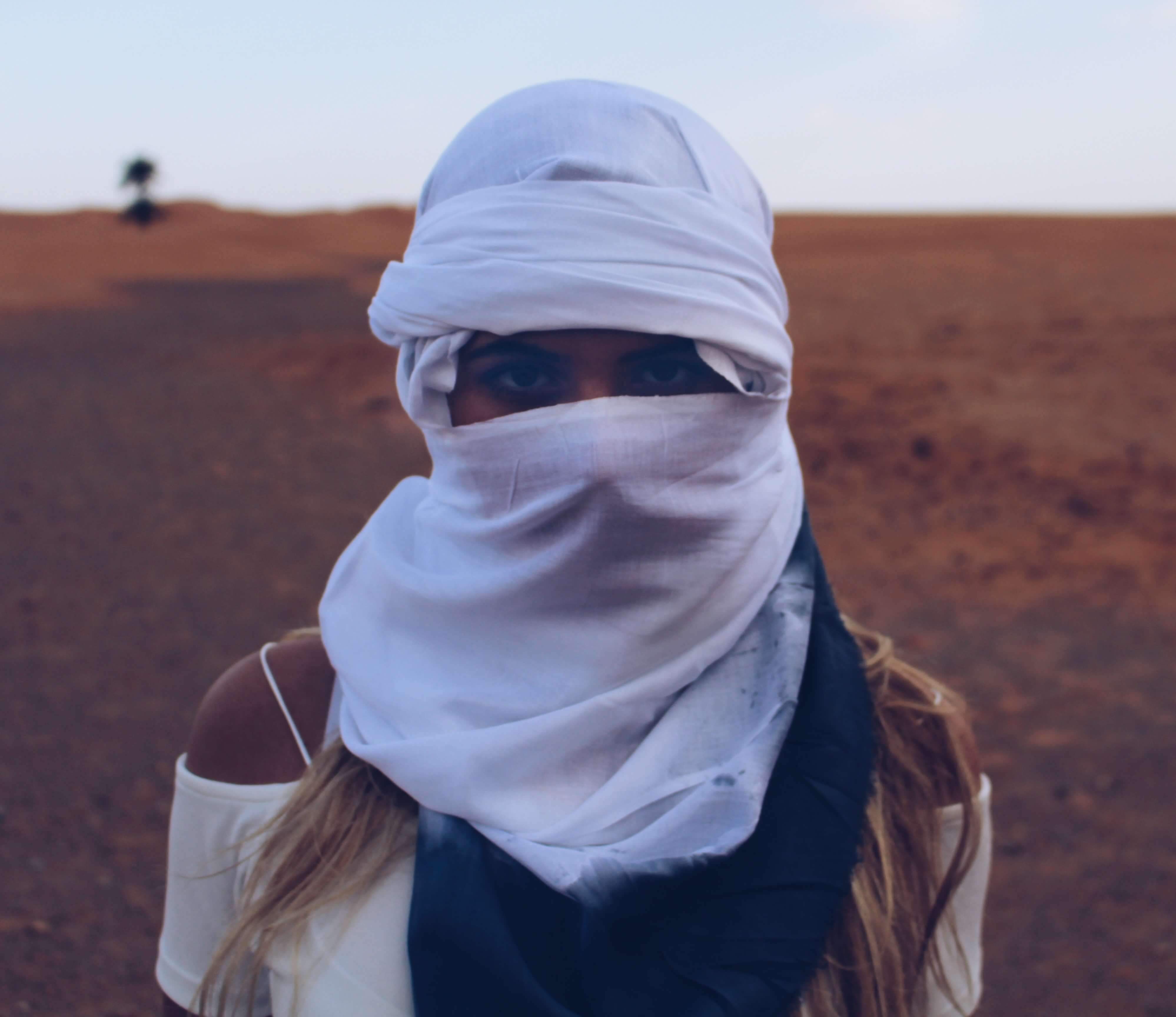 Female Bedouin Morocco Sahara desert