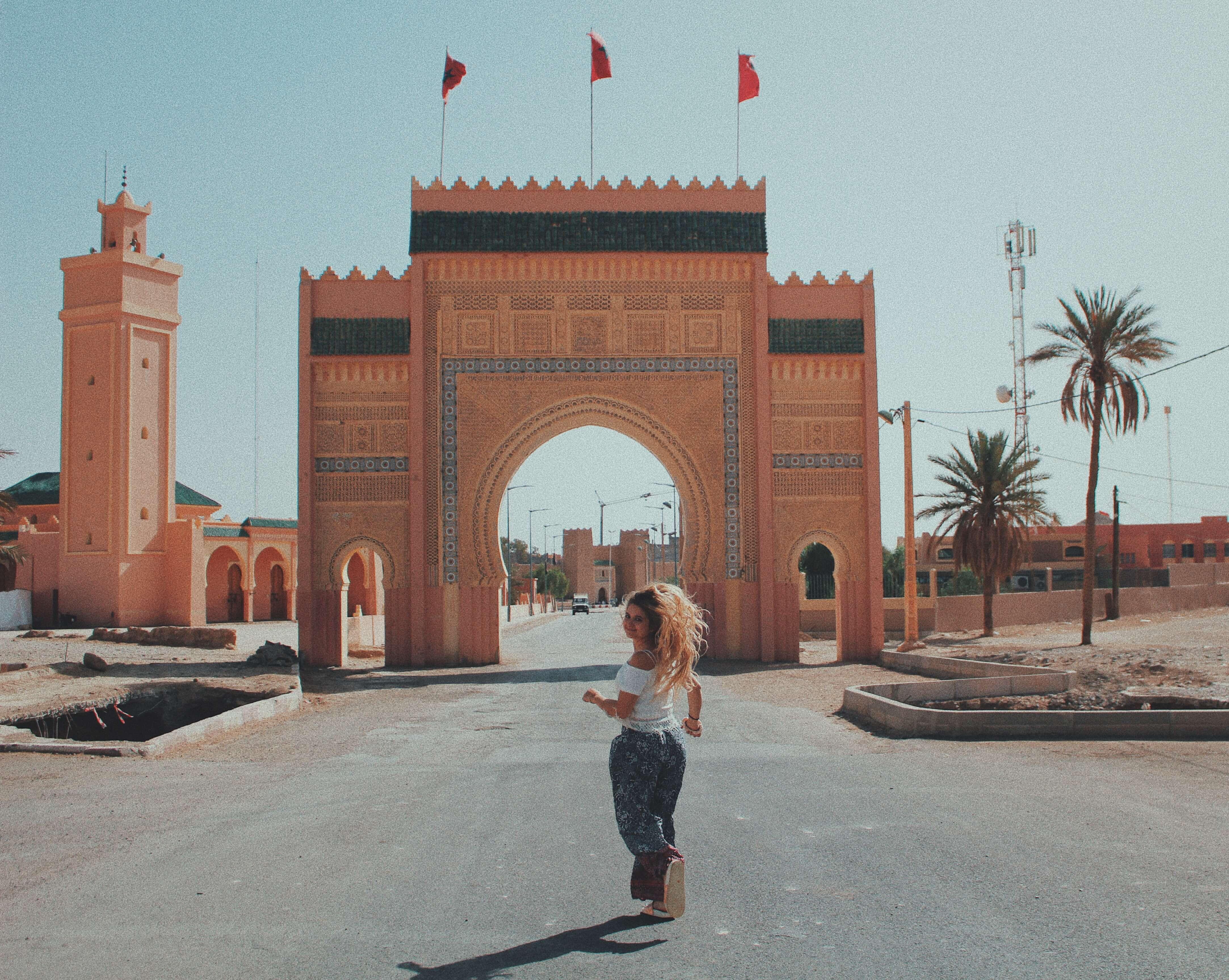 Sahara desert gate wall morocco