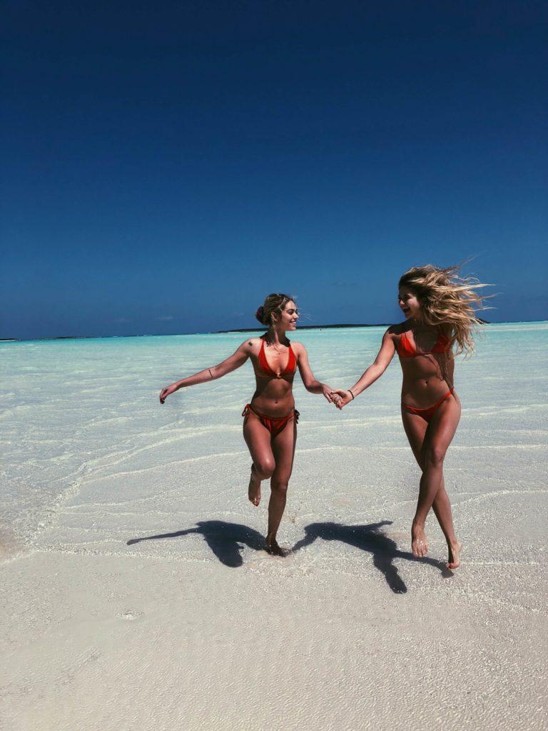 Cocoplum beach sandbar Bahamas Exuma